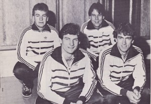European Silver medallists 1984 - left to right - Hugh Aitken, Peter Wilson, Roger McIntyre and Norman Brown.