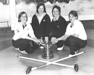 Henderson Bishop winners 2003 - left to right - Marie Heaney, Christine Cannon, Louise Kerr and Kerry Adams.