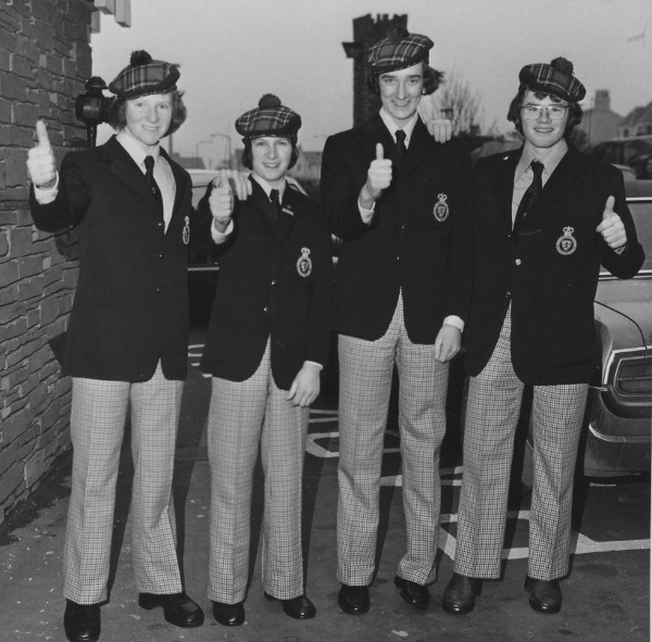 Neale and Andrew McQuistin, John Sharp and PJ Wilson head off to Canada for the world junior championships in 1975.