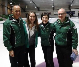 The finalists after the game - winners Neil and Alison Fyfe and runners-up Louise Kerr and John Furey