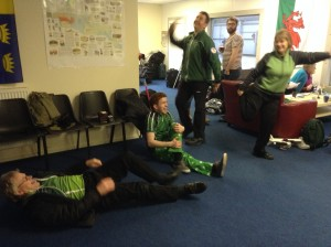 Ireland warm up