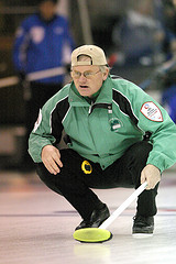 Skipping the team at his first world seniors in 2011