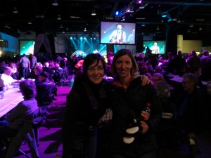 Hanging out with cousin Rhonda at the Brier Patch