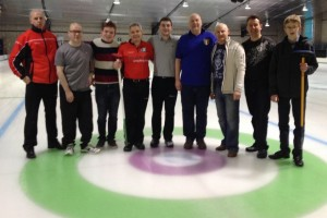 Teams Kenny and Wilson after their best of 5 Irish Men's Playdowns