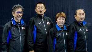 Masayasu Sato (Fourth, Skip) Shunichi Fujita (Third, Vice-Skip) Takahiro Hashimoto (Second) Shozo Itoh (Lead)