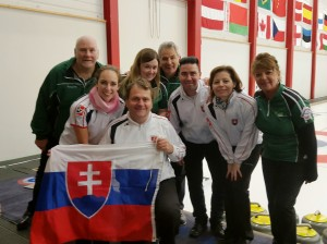 Team and their Slovakian opponents