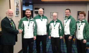 Irish men's champions - James Russell, Johnjo Kenny, John Furey, Arran Cameron and Eoin McCrossan