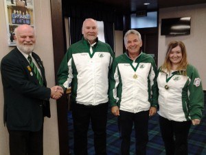Irish mixed champions - Johnjo Kenny, Tony Tierney, Jen Ward (missing member is Marie O'Kane)