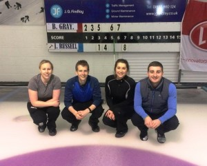 Irish Mixed Champions - Ailsa, Craig, Alison and James