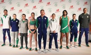 Some of the Irish Olympians at the recent kit launch in Dublin