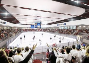 An artist's impression of the proposed ice arena.