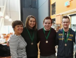Anne with low road winners Alison, Eoin and David